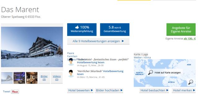 Holidaycheck Bewertung Das Marent Tirol