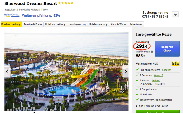 Top 5 Sterne Hotel In Der T 252 Rkei Mit All Inclusive Amp Flug