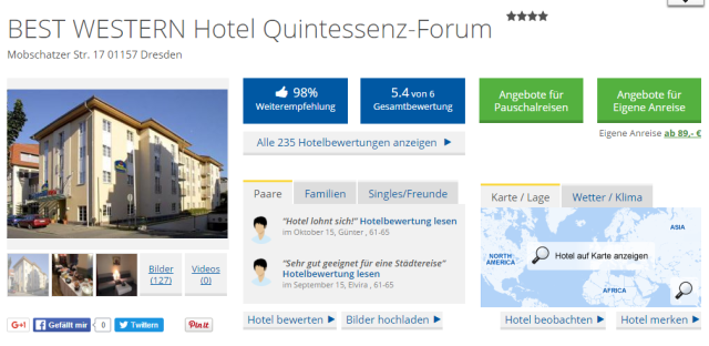 Holidaycheck Best Western Quintessenz Forum