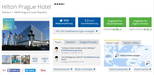 Holidaycheck Hilton Prag