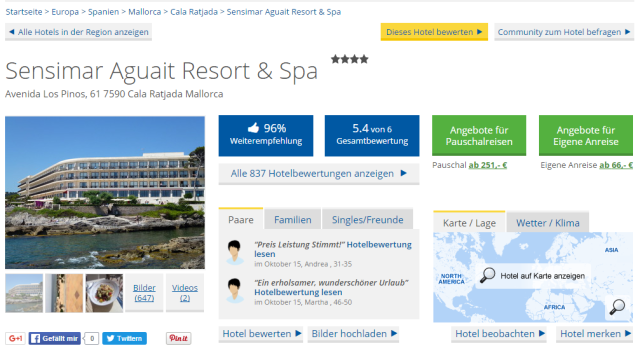 Holidaycheck Sensimar Aguait Resort und Spa