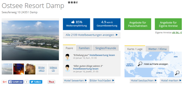 Holidaycheck Ostsee Resort Damp
