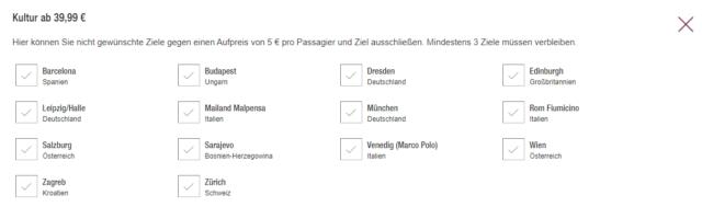 BlindBooking Eurowings Kultur ab Koeln