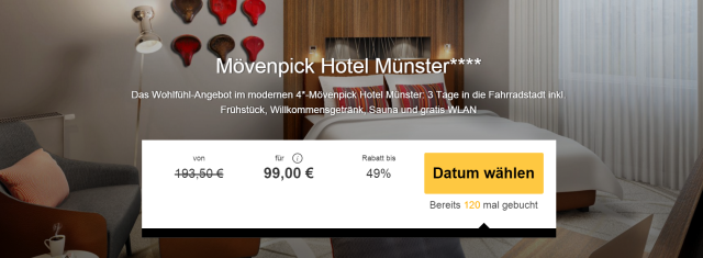 m venpick deal 3 tage im 4 m venpick hotel m nster inkl fr hst ck und willkommensgetr nk f r. Black Bedroom Furniture Sets. Home Design Ideas
