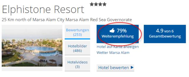 Aegypten, Elphistone Resort, HolidayCheck-Bewertung