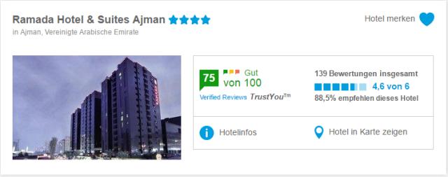 Ajman, Ramada Hotel_5vorlfug