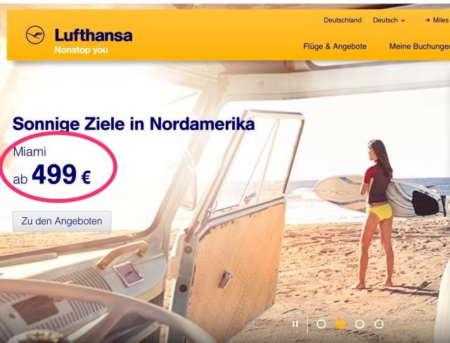 Günstige Flüge in die USA Lufthansa_®_Deutschland