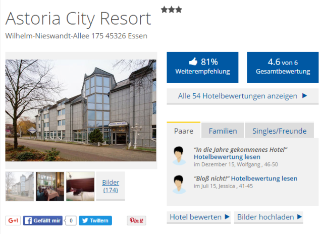 Astoria City Resort Essen Holidaycheck