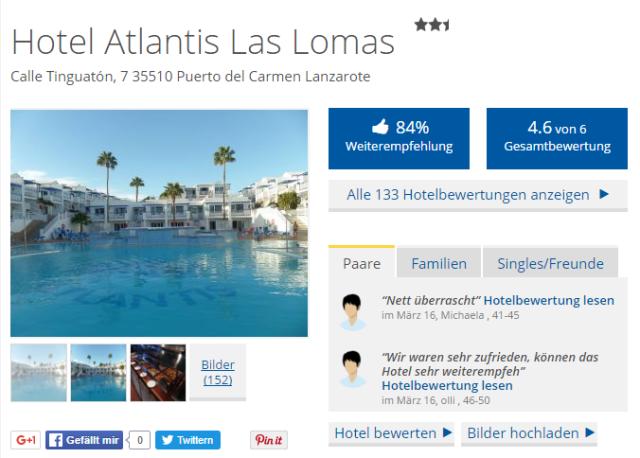 Atlantis Las Lomas Holidaycheck