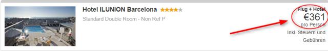 Barcelona_Hotel Ilunion_expedia.de_Preis