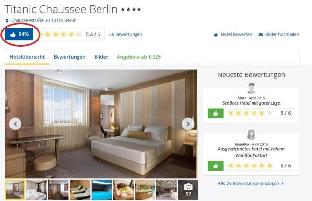 Bewertung Titanic Chaussee Hotel Berlin HC
