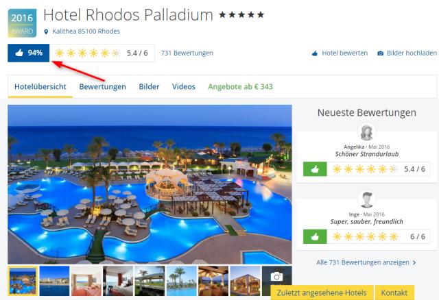 Rhodos Palladium Holidaycheck