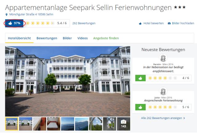 Sellin Hotels  Sterne