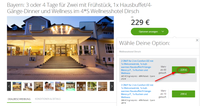 Angebotsuebersciht Dirsch Hotel Groupon