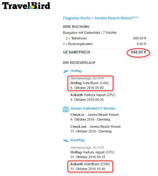 Angebotsuebersicht Korfu Aerolos TravelBird