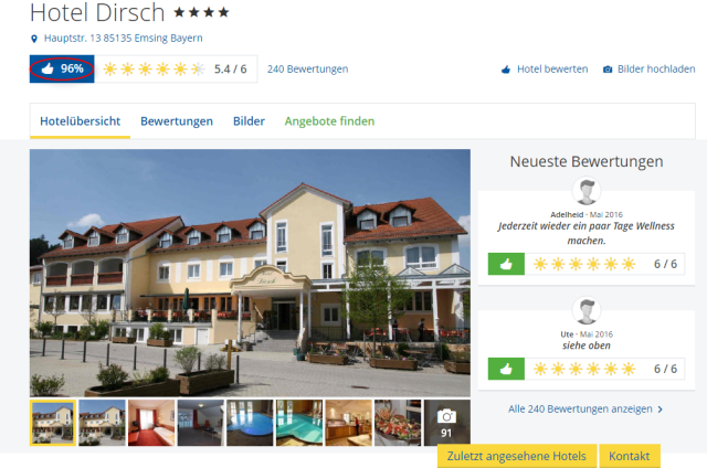 Holidaycheck Dirsch Hotel