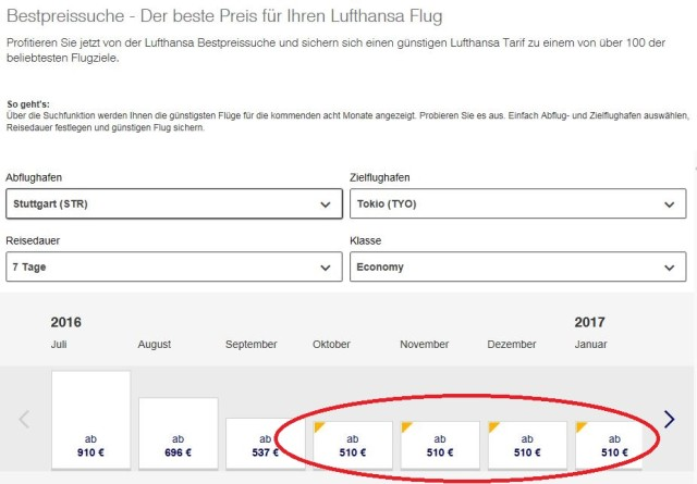 Flug nach Tokio Lufthansa