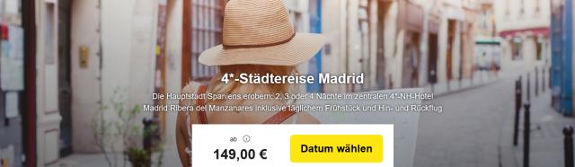 Madrid Hotel Hinflug Rueckflug Travelbird