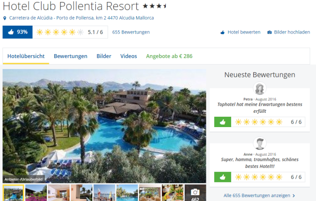 Club Pollentia Mallorca TUI