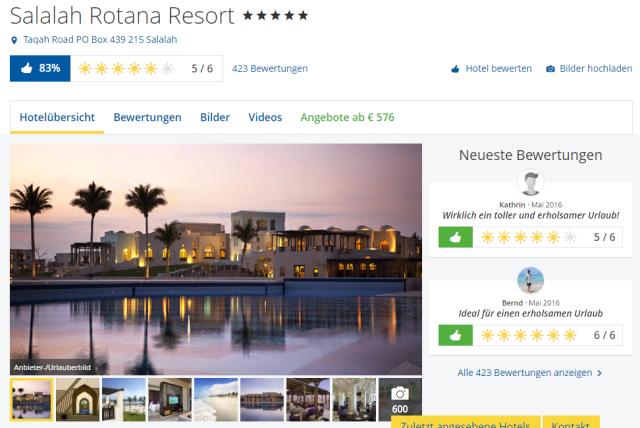 Salalah Rotana Resort Holidaycheck