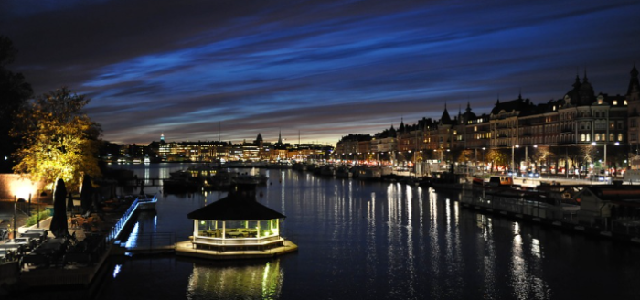 Stockholm bei Nacht Fluege September 2016
