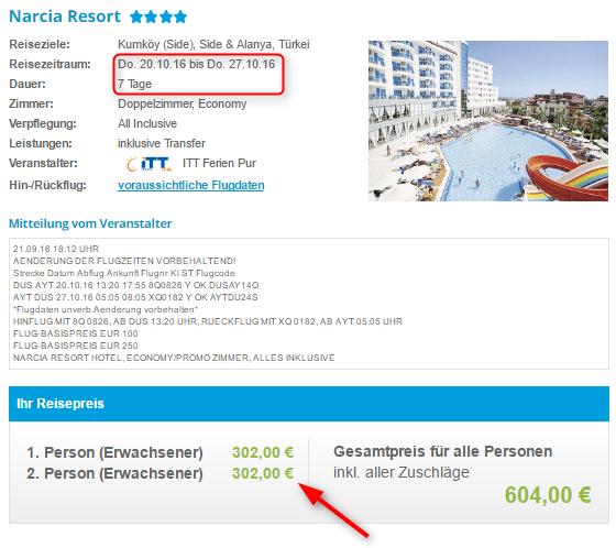 Buchungsuebersicht Narcia Resort 5vF