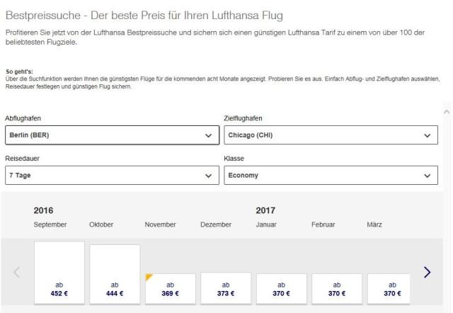 Lufthansa Flug Chicago