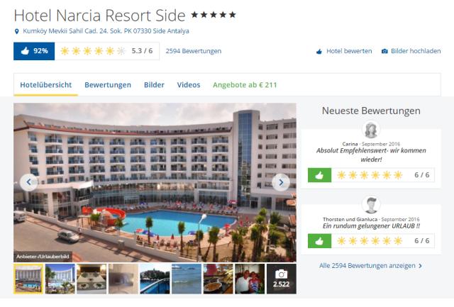 Narcia Resort Holidaycheck