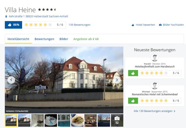 Holidaycheck Villa Heine Halberstadt