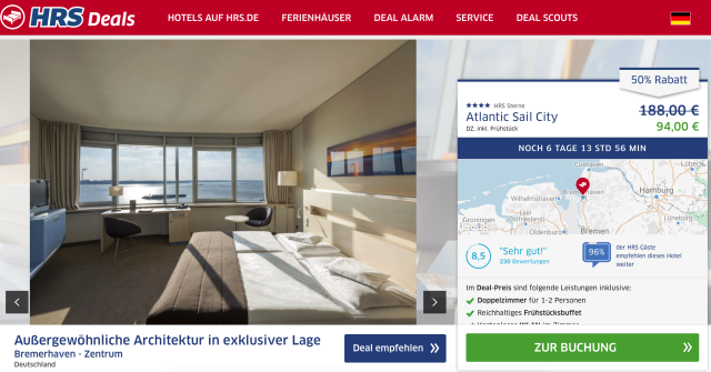 Ins Atlantic Hotel Sail City Bremerhaven