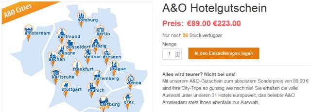 A O Deal 3 Tage Im A O Hotel Nach Wahl Fur 35