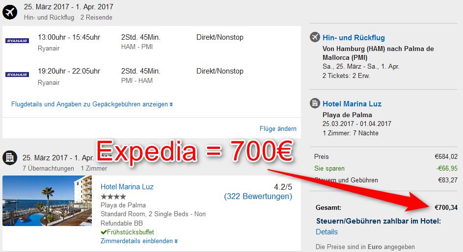 Expedia Kreditkarte Problem