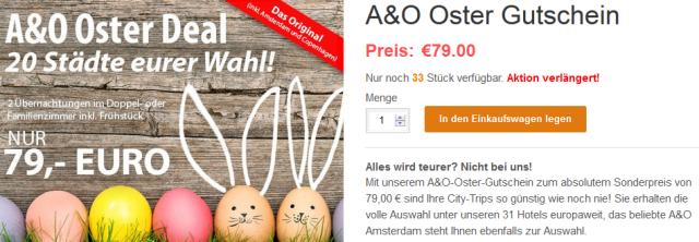 Oster Aktion 3 Tage A O Hotel Nach Wahl Inkl Fruhstuck Fur 35 75