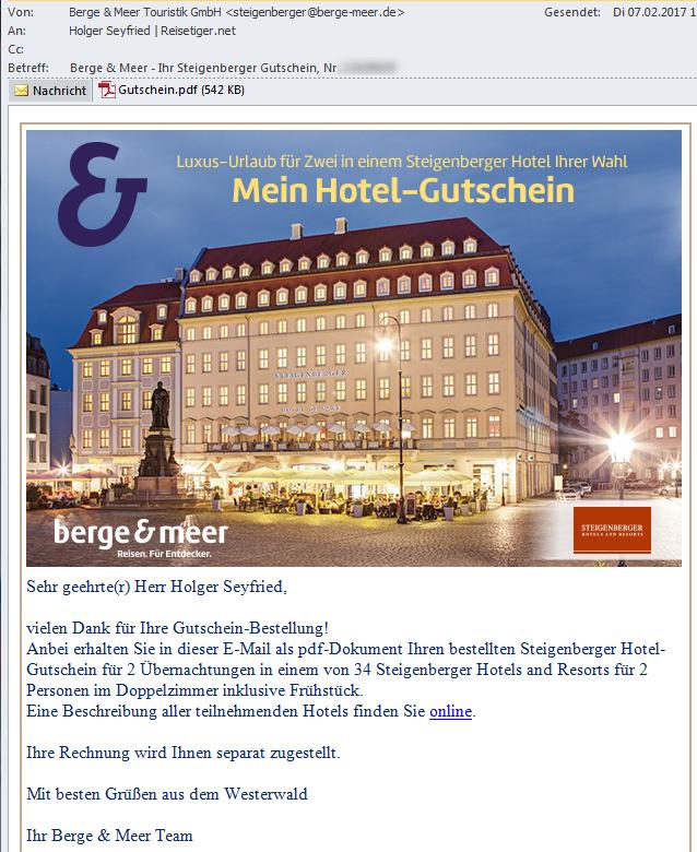 Steigenberger-Hotelgutschein