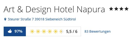 3 tage im 4 wellness designhotel in s dtirol inkl for Design hotel napura