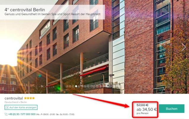 2 Tage Wellness Im 4 Centrovital Hotel Berlin Inkl Extras Fur Nur