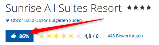 Bewertungen Sunrise All Suites Resort Holidaycheck