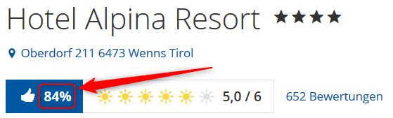 Alpina Resort Tirol Bewertungen Holidaycheck