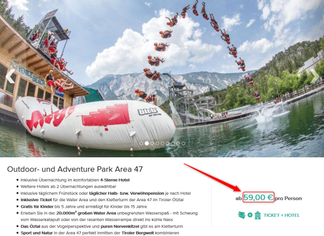 Area 47 Ötztal Angebot Travelcircus