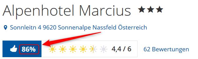 Bewertungen Alpenhotel Marcius Holidaycheck