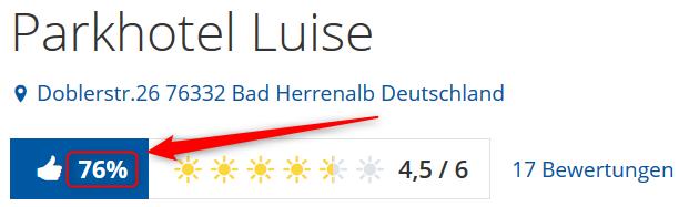Bewertungen Parkhotel Luise Holidaycheck