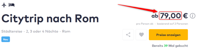 Kurztrip nach Rom Hotel Osimar Angebot Travelbird