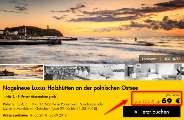 Luxus-Holzhütten an der polnischen Ostsee JustAway