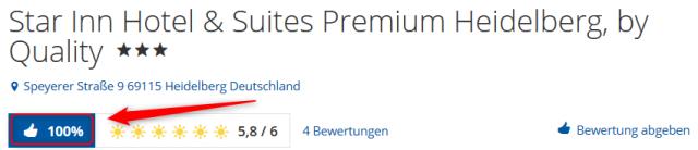 Star Inn Hotel & Suites Premium Heidelberg, by Quality Bewertungen Holidaycheck