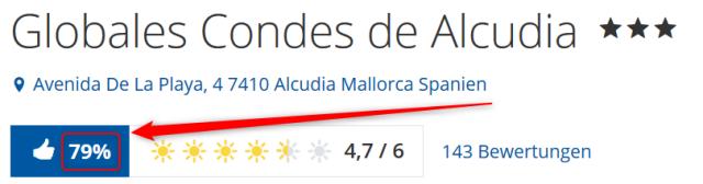 Bewertungen Globales Condes de Alcudia Holidaycheck
