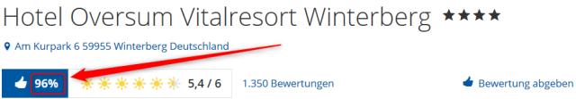 Hotel Oversum Vitalresort Winterberg Bewertungen Holidaycheck