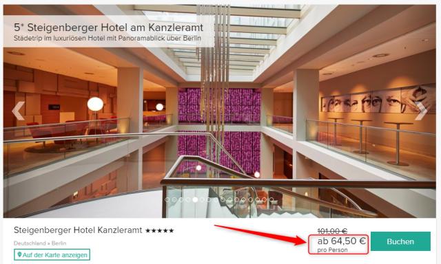 Steigenberger Hotel Berlin Angebot Travelcircus