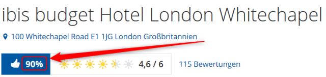 ibis budget Hotel London Whitechapel Bewertungen Holidaycheck