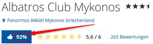 Albatros Club Mykonos Bewertungen Holidaycheck