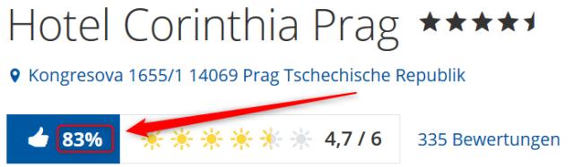 Corinthia Hotel Prague Bewertungen Holidaycheck